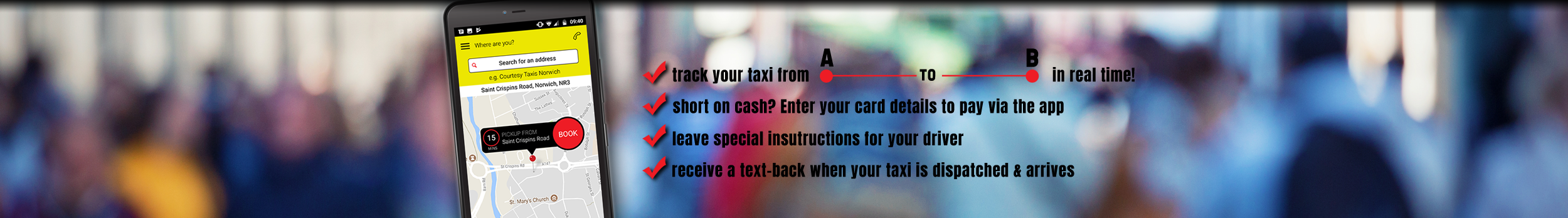 The Courtesy Taxis App // Booking A Taxi Made Easy