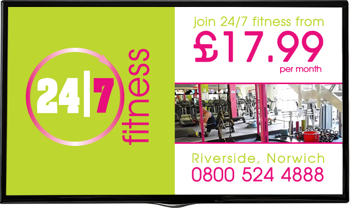 24/7 Fitness TV Slider
